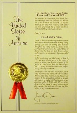 Example of U.S. Patent